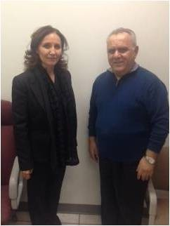 The PCs Official in the U S  meets Ms  Kalita Shaba head of