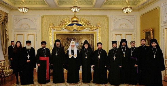 His Holiness Patriarch Kirill meets with members of the Council of Christian Church Leaders of Iraq