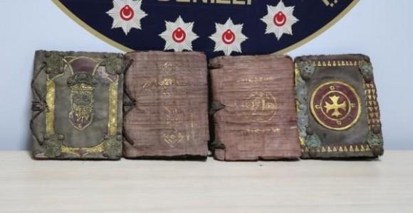 4 ancient books written in Syriac and Aramaic, depicting life of Jesus seized in Turkey's Denizli