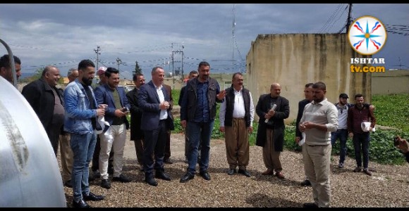 In cooperation with the Chaldean Culture Society in Al-Qush, the USAID is providing electric generators for Naserya and Jarahya villages