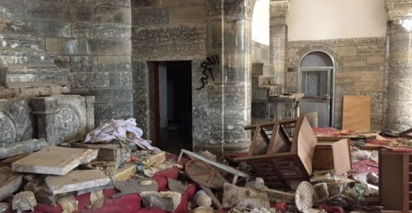 A Christian village that was almost completely destroyed by ISIS is being rebuilt