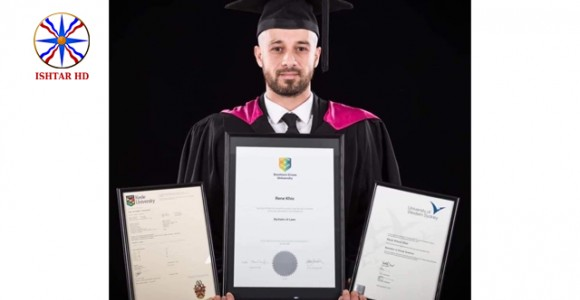 The young Assyrian Rene Khio graduated from the Law school with three independent degrees from three international universities