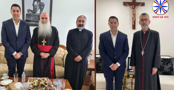 Mr. Joseph Howell visited his Beatitude Mar Yacoub Daniel and His Grace Mar Amel Nona